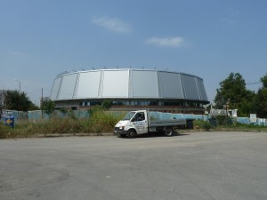 A current view of the Sports hall, Ruse